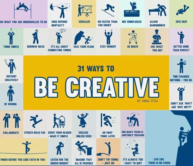 31 Ways to Be Creative