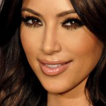 Kim Kardashian looks at camera
