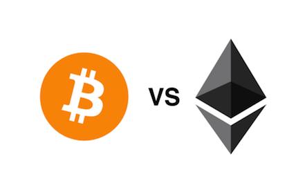 Ethereum against Bitcoin