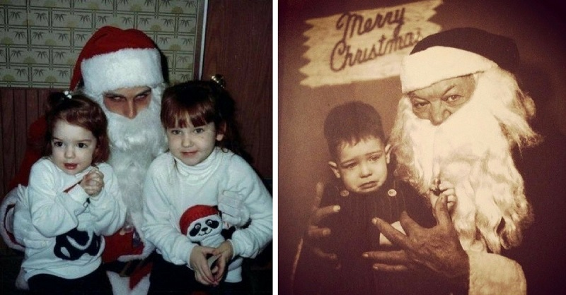 Creepy Santa Lap - The Worst Santa's Lap Photos to Ruin Your Christmas