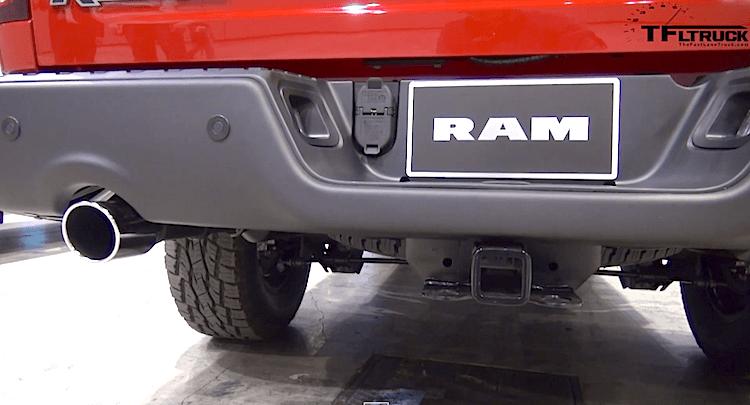 2015 ram rebel hemi exhaust sound and