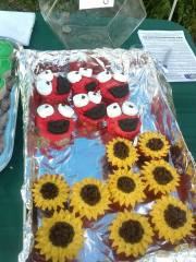 Elmo and Sunflower Cup Cakes made by Victoria S.