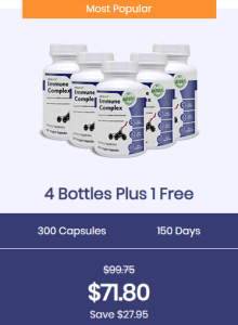 An image of four bottles of immune complex