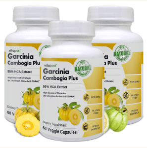 An image of 3 bottles of Garcinia Cambogia Plus - Weight Loss Supplement