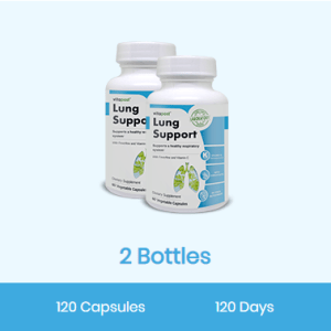 An image of 2 bottles of Lung Support