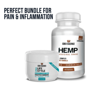 An image of CBD Bundle – CBD Capsules and Topical Lotion – Pain and Inflammation