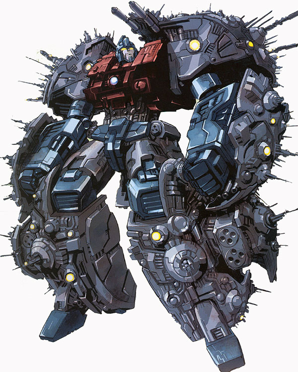 "The idea of Cybertron as a Transformer was part of a long lost draft for ""Transformers: The Movie. Simon Furman would later use this idea in the acclaimed comic book from Marvel."