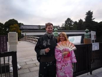wearing Instant Kimono