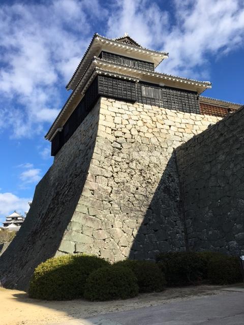 stone wall in Matsuyama-Castle