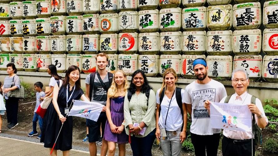 Who drunk the liquer of the sake barrals? : Meiji-Jingu and Harajuku Tour on Jul 21th
