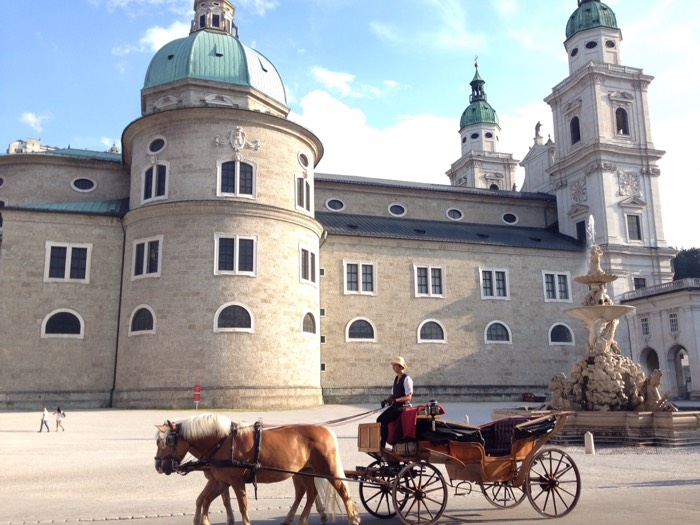 ヨーロッパ最大のパイプ・オルガンが設置されている、ザルツブルク大聖堂。
