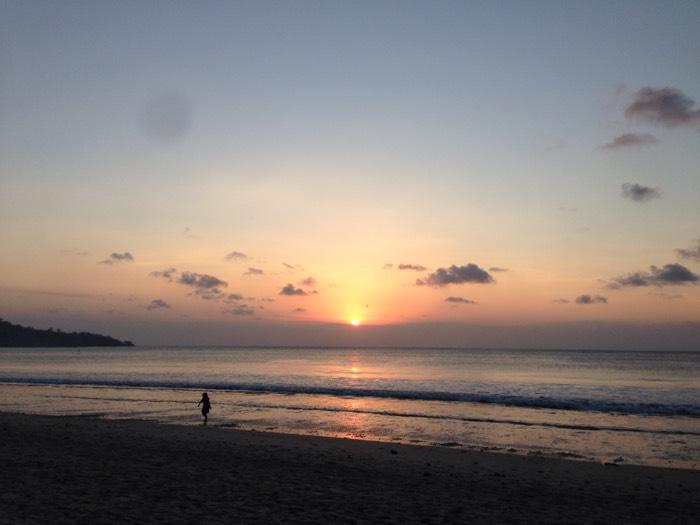ジンバランビーチの夕陽。