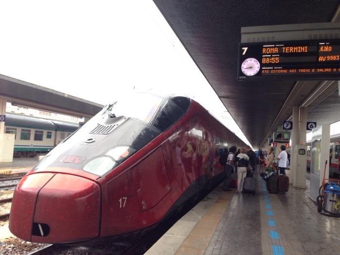 ベネチアから電車に乗ってローマへ。