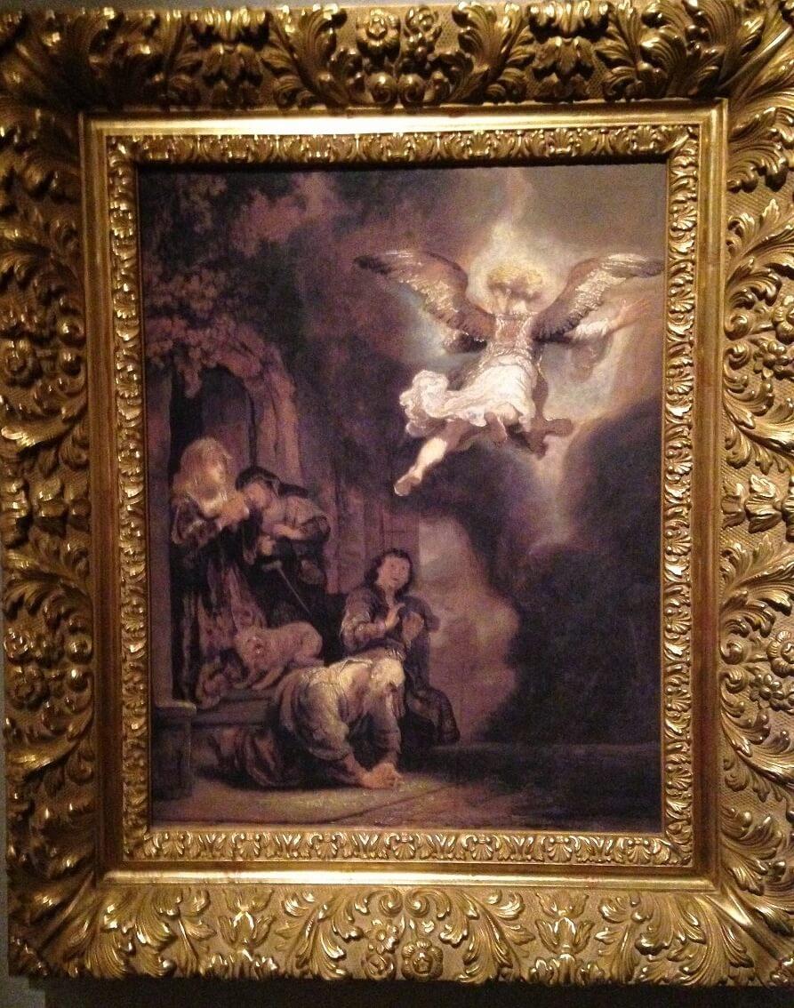 トビアスとその家族と別れる天使