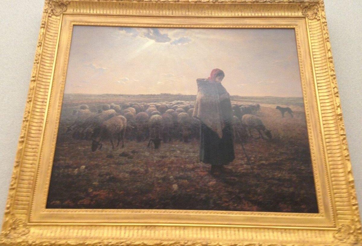 羊飼いの少女 ジャン=フランソワ・ミレー