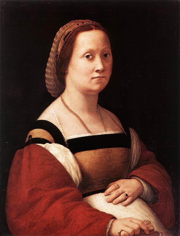 妊婦の肖像 ラファエッロ・サンツィオ