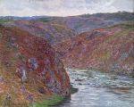 クルーズ峡谷(灰色の日) クロード・モネ