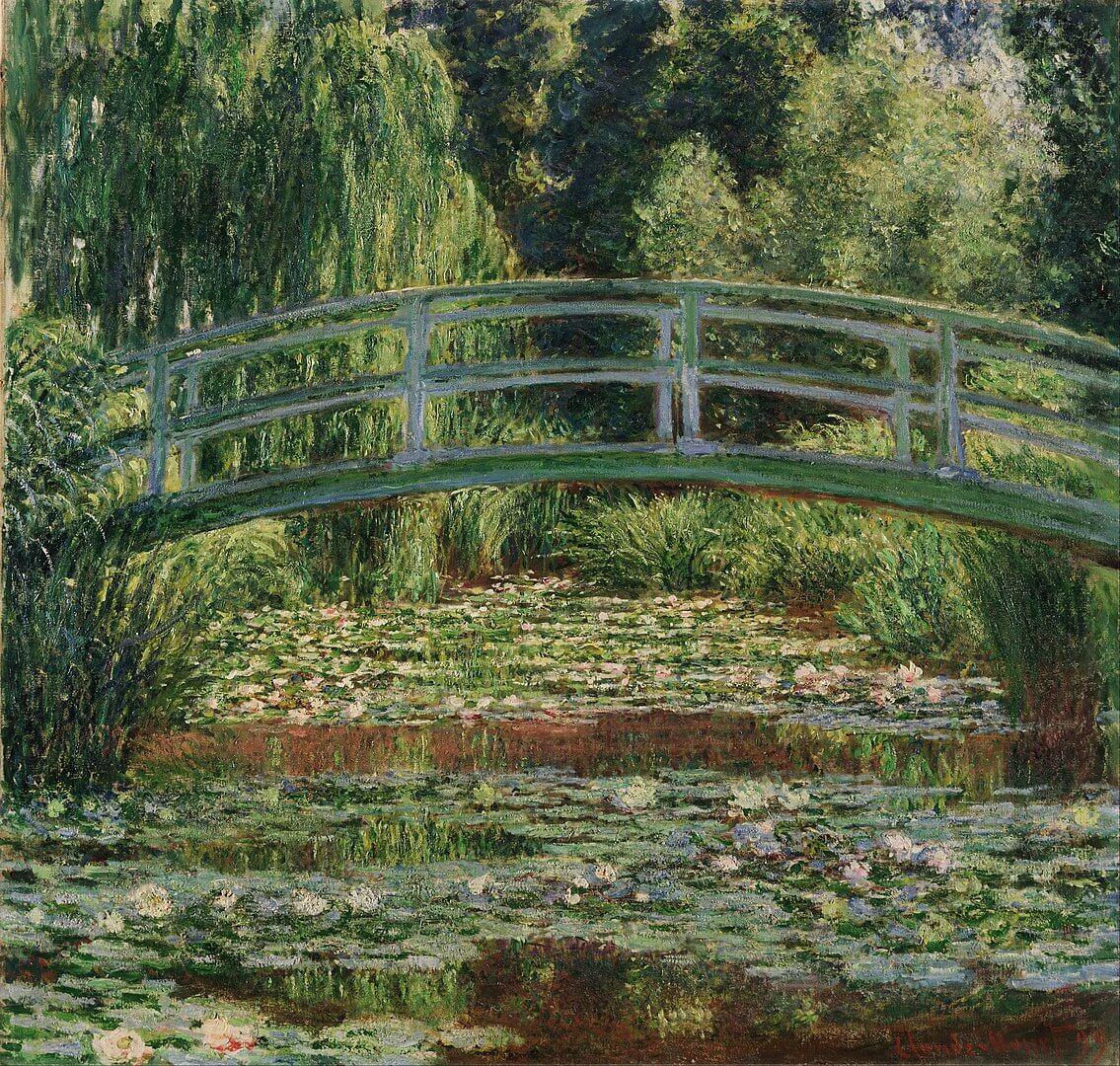 ジヴェルニーの日本の橋と睡蓮の池 クロード・モネ