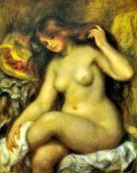 ブロンドの髪の浴女 ルノワール