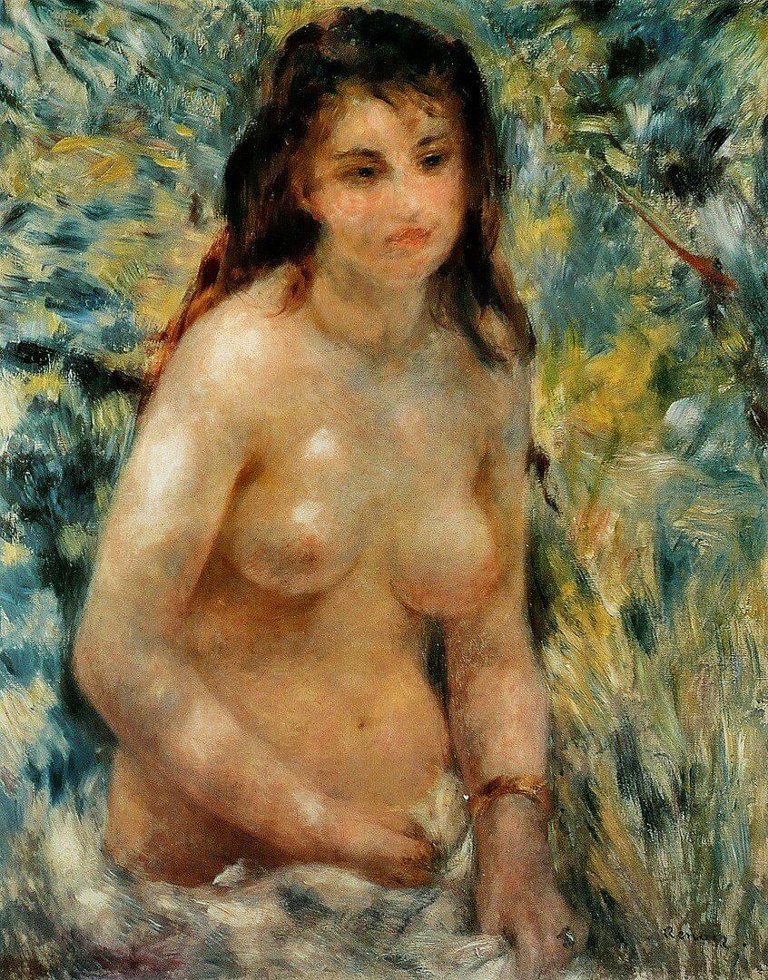 陽光の中の裸婦 ルノワール