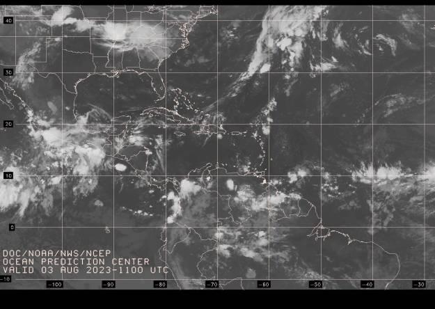Atlantic satellite image
