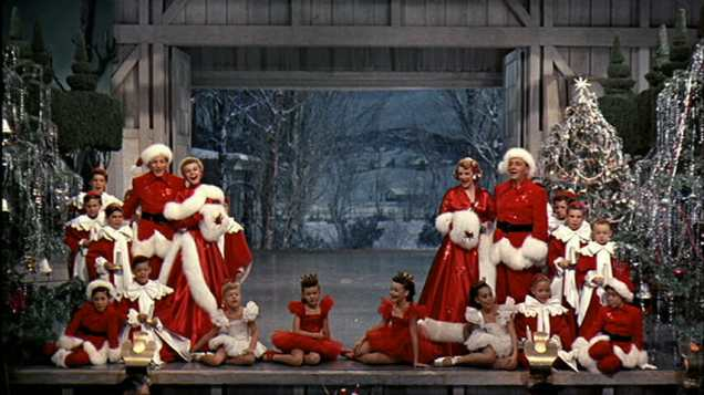 Danny Kaye, Vera Ellen, Rosemary Clooney, and Bing Crosby in White Christmas (1954)