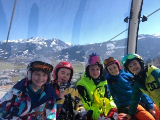 Smiles in the ski lift