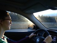 I drove home from the mountains :)