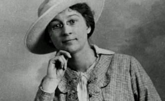 Rose Valland in a hat