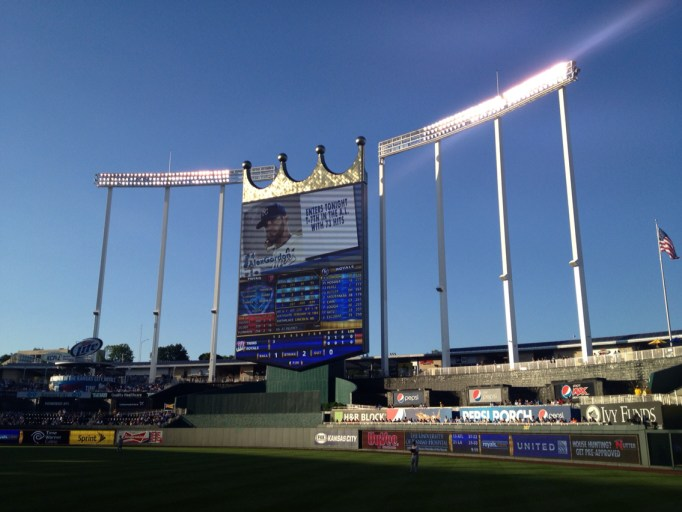 Underrated MLB Ballparks Kauffman Scoreboard