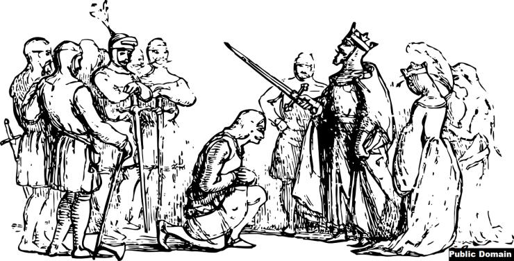 King Arthur's court depicted