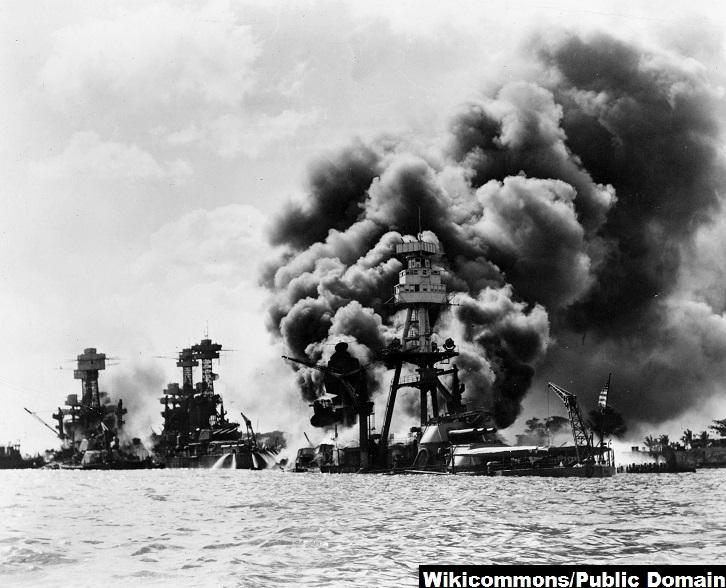 USS Arizona after Pearl Harbor attack
