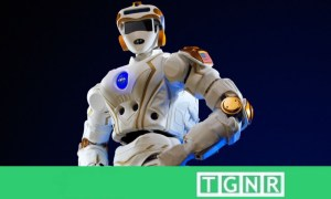 NASA's humanlike robot astronaut Valkyrie, known as R5, undergoes advanced trials at the Edinburgh Center for Robotics
