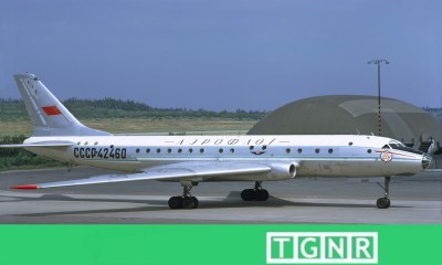 Soviet Tupolev Tu-104 histories second jet airliner
