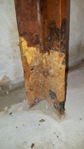 Build up on the side of support beam