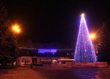 В Горловке разобрали новогоднюю елку. Вот, какая красивая она была