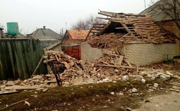 В селе Зайцево обстрелом разрушен частный дом