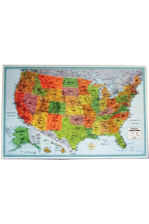 USA Laminated Wall Map - M Series