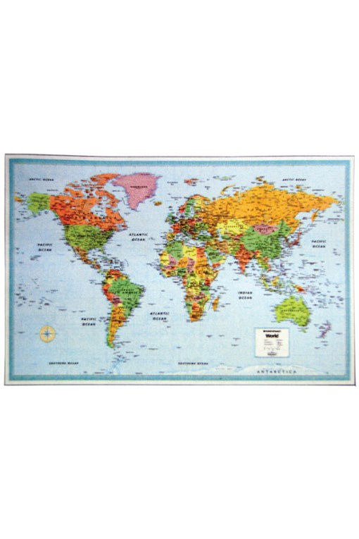 World Laminated Wall Map - M Series