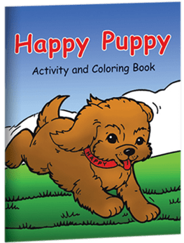Happy Puppy Activity and Coloring Book