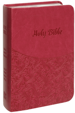 Pink Simulated Leather Bible