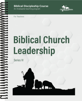 Biblical Church Leadership