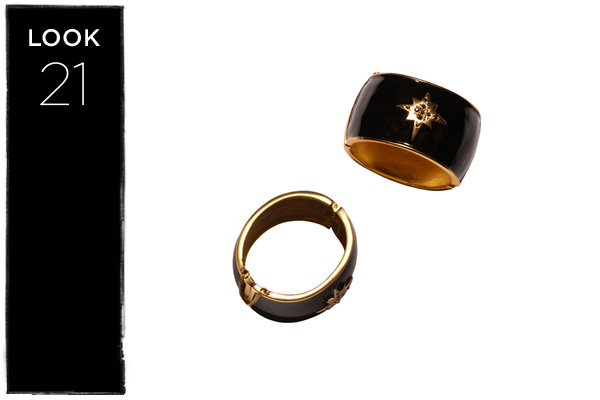 Cuff in black/gold