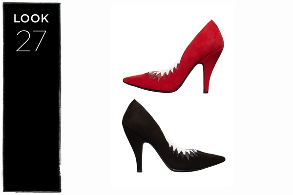 Flame pumps in red or black