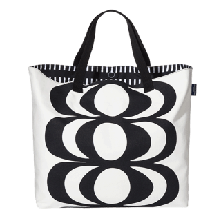 Oversized Beach Tote - Kaivo Print - Black