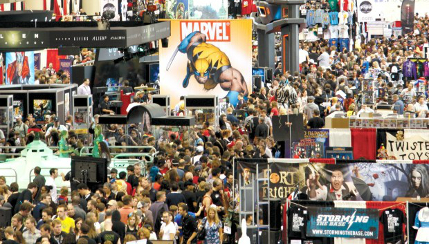 A microcosm of the crowds at Fan Expo Canada - Convention Central