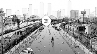 Rick in Comics - City Wide angle
