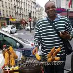 Checkout The Nigerian Man Who Sells Roasted Corn In Dubai
