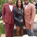 E! NEWS: Tiwa Savage, Diddy And Jay Z Pictured At Grammy Event