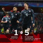 SPORT NEWS: Arsenal 1-5 BayernMunich (Agg: 2-10): 10-man Gunners crash out of ChampionsLeague